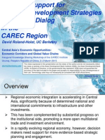 Decision Support for National Development Strategies and Policy Dialog in the CAREC Region