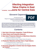 Factors Affecting Integration in Global Value Chains in East Asia