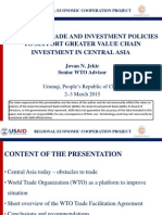 Necessary Trade and Investment Policies to Support Greater Value Chain Investment in Central Asia