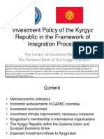 Investment Policy of the Kyrgyz Republic in the Framework of Integration Process