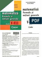 Matematica V-VIII, Formule, Notiuni Generale