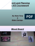 Research and Planning Media as Coursework