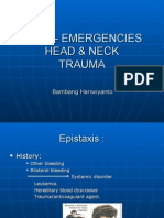 Emergency and Traumatology in ENT