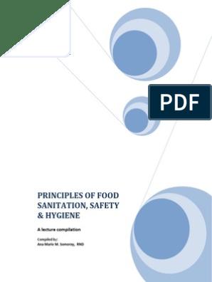 PRINCIPLES OF FOOD SANITATION, SAFETY & HYGIENE   Foodborne
