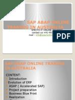 Sap Abap Online Traning in Australia