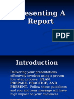 How To Present a Report