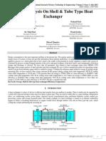 Exergy Analysis on Shell & Tube Type Heat Exchanger
