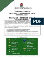 RFU - Tackling & Defence Skills Session Plans