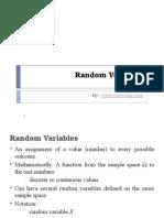 Random Variables DC