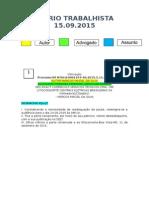Diário Trabalhista 15.09.2015