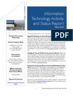 March 2010 IT Status Report