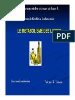 Metabolism e Lipides