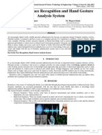 A Review on Face Recognition and Hand Gesture Analysis System