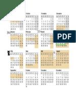 Calendar an scolar 2015-2016