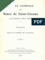 L' Ecole Nationale des Mines à la Guerre 1914-1918