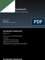 Accerelate Framwork