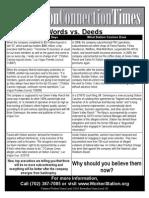 Words vs Deeds