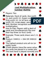 math large card games 24