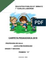 1ro Carpeta Pedagogica 2015 COVADONGA