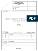 Method Statement for Installation of Chain Link Fence Rev 0