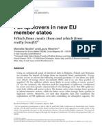 Economics of Transition, 2010, FDI EU (1)