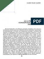 Jaime Velez - La Apriori en La Concepción Kantiana Del Derecho