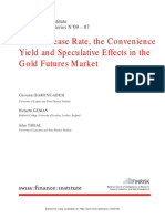 On the Lease Rate and Convenience Yield of Gold Futures