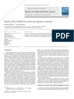 Emulsion Films Stabilized by Natural and Polymeric Surfactants