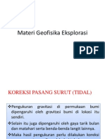 Materi Geofisika Eksplorasi