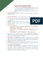 Judiciary Test Study Guide