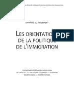 6ème rapport immigration au Parlement Français 2010