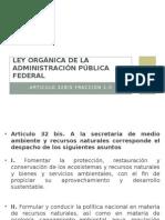 Ley Orgánica de La Admistración Pública Federal