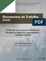 O Mercado de Transporte Individual de Passageiros