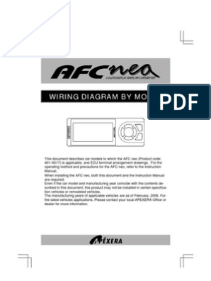 Apexi Afc Neo Wiring Throttle Electrical Connector