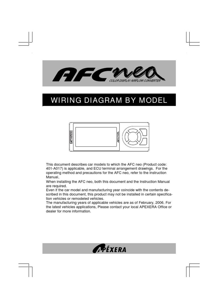 apexi afc neo wiring throttle electrical connector rh scribd com Apexi SAFC Apexi SAFC