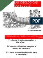 Tareas Ideologicas Para El 2013-1