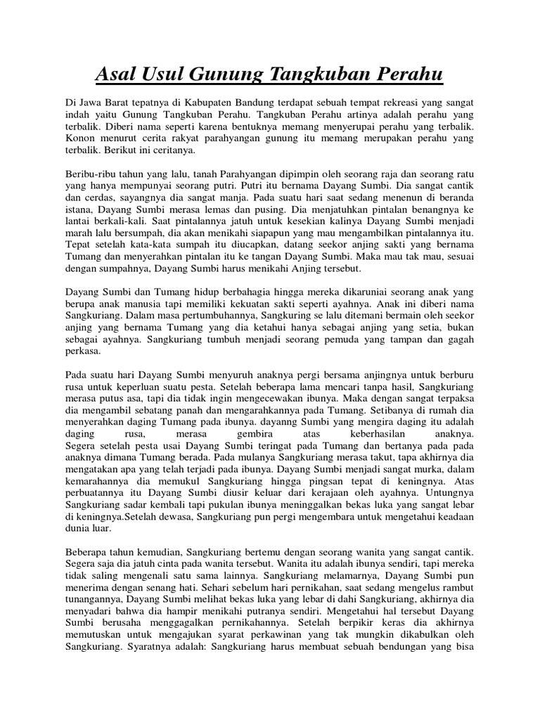 Sejarah Tangkuban Perahu