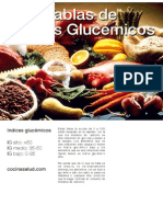 Tabla Indices Glucemicos