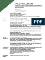 Robert Austin Dahlem Resume - Online