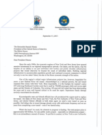 Christie and Cuomo Letter to Obama on Hudson Rail Tunnel Funding