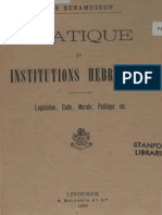 Benamozegh Elie - Pratique Et Institutions Hebraiques