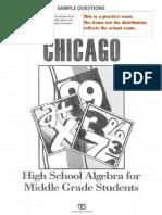 Algebra Exit Sample Test