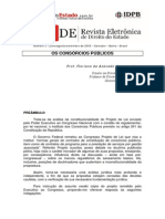 Floriano de Azevedo Marques - Artigo sobre Consorcios Publicos