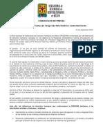 COMUNICADO DE PRENSA de la Red Nacional de Defensoras de DDHH en México