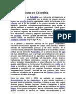 Paramilitarismo en Colombia Exposicion