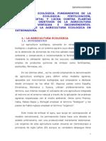 Fundamentos de la Agricultura Ecológica (Extremadura)