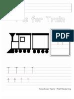 Tt PreK Handwriting