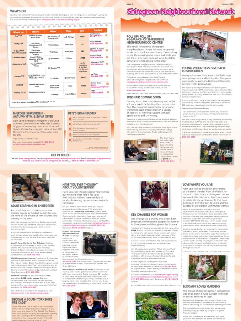 Final - Autumn Shiregreen Newsletter | Child Care