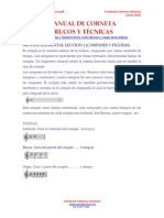 Manual de Corneta Trucos y Técnicas Banda de Cornetas y Tambores Editado Por Funsantacruz