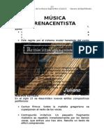 Generalidades, formas y estilos del renacimiento musical